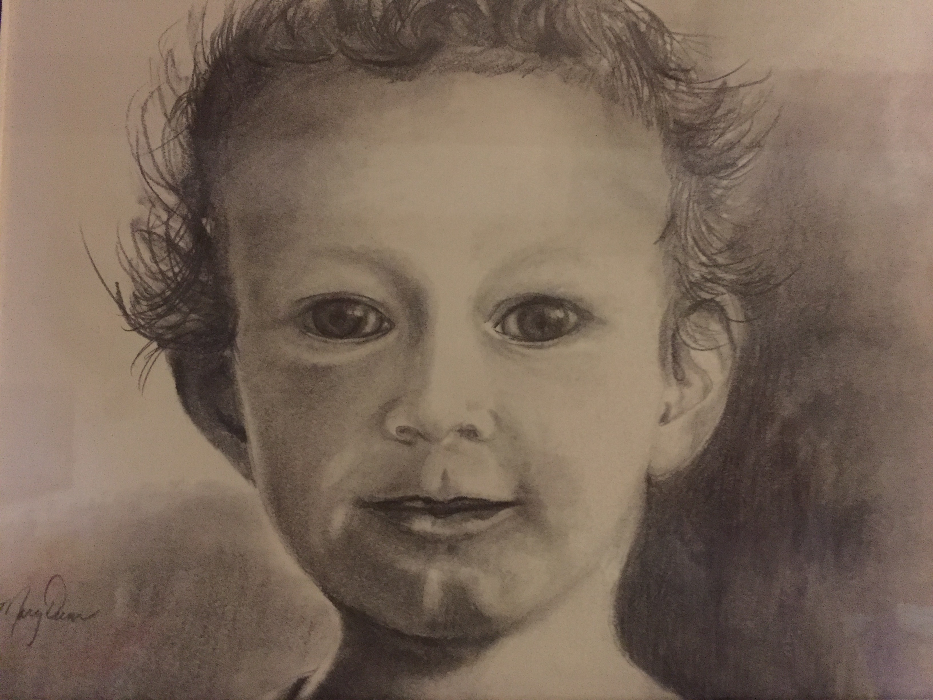 Pencil-graphite Drawing Grandson